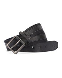 Lacoste Black And Navy Dual Fabric Belt Blue