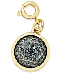 Inc International Concepts Gold Tone Black Druzy Crystal Charm Only At Macy's
