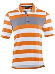 Chervo Antonino Stripe Regular Fit Polo Shirt Orange