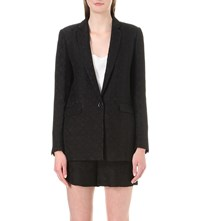 Sandro Holly Brocade Blazer Noir