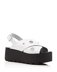 Charles By Charles David Jekyll Platform Sandals Compare At 119 White