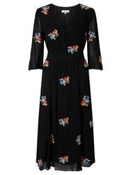 Alice By Temperley Somerset Embroidered Dress Black
