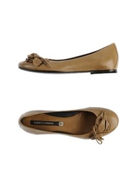 Alberto Fermani Ballet Flats Light Brown