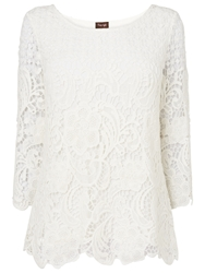 Phase Eight Shelley Crochet Lace Blouse Ivory