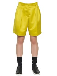 Jil Sander Pleated Techno Duchesse Shorts