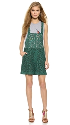 Msgm Lace Overalls Green