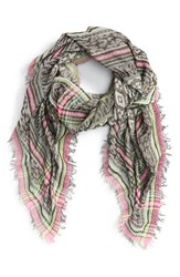 Women's Betsey Johnson 'Animal Party' Square Scarf Black