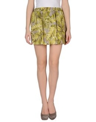 Patrizia Pepe Mini Skirts Yellow