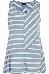 Joseph Striped Stretch Jersey Tank Blue