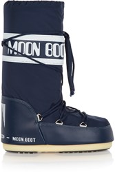 Moon Boot Pique Shell And Faux Leather Snow Boots