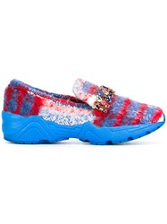 Suecomma Bonnie Stone Embellished Sneakers Blue