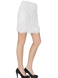 Cote Embellished Tulle Skirt White