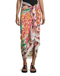Acapulco Floral Summer Scarf Multicolor Multi Colors Theodora And Callum