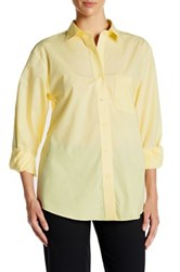 Foxcroft Long Sleeve Classic Fit Shirt Yellow