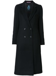 Guild Prime Double Breasted Mid Coat Black