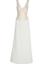 Rime Arodaky Dree Lace And Satin Twill Gown