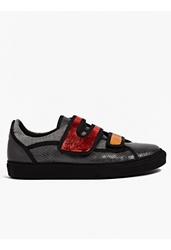Raf Simons Sterling Ruby Men's Metallic Leather Velcro Sneakers