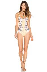 Minkpink Spread Like Wildflowers One Piece Swimsuit Yellow