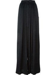Ann Demeulemeester Pleated Front Maxi Skirt Black