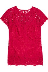 Dolce And Gabbana Guipure Lace Top Red