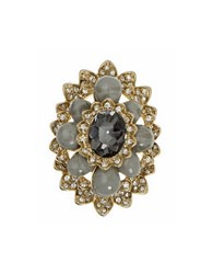 Marchesa Glass Crystal Cluster Ring Multi
