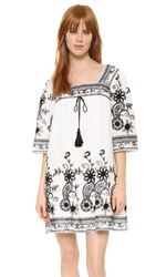 Endless Rose Embroidered Dress Off White Black