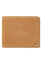 Men's Skagen 'Ernst International' Bifold Leather Wallet Beige Sand