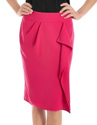 424 Fifth Plus Drape Front Pencil Skirt Pink Paradise