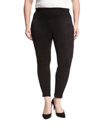 Cirana Paneled Faux Suede Leggings Black