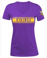 5Th And Ocean Women's Minnesota Vikings Touchback Le T Shirt Purple