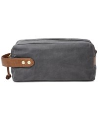 Fossil Men's Waxed Canvas Shave Kit Grey