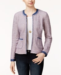 Maison Jules Tweed Denim Blazer Only At Macy's Chambray Combo