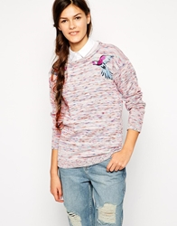 Bellfield Nepi Jumper With Parrot Embroidery Multi