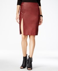 Xoxo Juniors' Faux Leather Pencil Skirt Burgundy