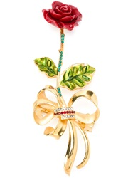 Dolce And Gabbana Rose Hair Clip Red