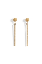 Carolina Bucci 18K Gold Mirador Sparkly Stud Drop Earrings