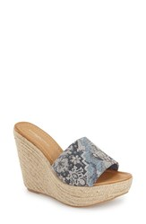 Women's Charles David 'Darla' Sandal Blue Weave Fabric