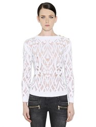 Balmain Destroyed Cotton Knit Sweater