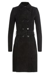 Jitrois Suede Trench Coat Black