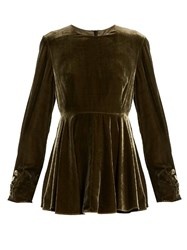 Sportmax Pitone Blouse Dark Green