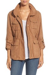 Women's Vince Camuto Faux Suede Hooded Jacket