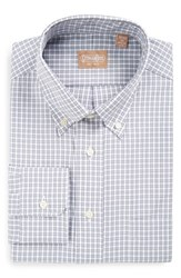 Gitman Brothers Vintage Men's Regular Fit Gingham Check Dress Shirt Grey