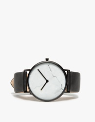 The Horse White Marble Black Band Watch