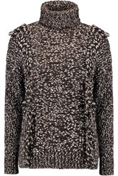 Iris And Ink Fernanda Cotton Wool Blend Turtleneck Sweater Chocolate