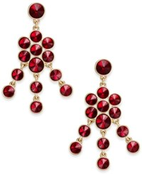 Charter Club Crystal Chandelier Earrings Only At Macy's Red Gold