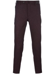 Pt01 Slim Fit Trousers Pink Purple