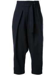 Studio Nicholson Drop Crotch Trousers Black