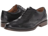 Dockers Corinth Black Polished Full Grain Men's Lace Up Wing Tip Shoes