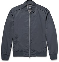 Theory Brant Shell Bomber Jacket Charcoal