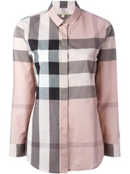 Burberry Brit Checked Shirt Pink And Purple